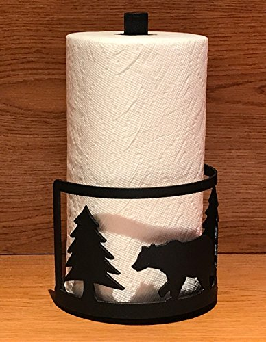 Made in USA Bear Themed Steel Paper Towel Rack