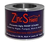 "ZincShield Nail Set - Includes (2) x 2.5"" 50 Ft. Roll & (2) x Bag of Nails Installation Kit to Avoid Ugly Roof Stains from Moss, Algae, Fungus, and Mildew - Made in the USA"