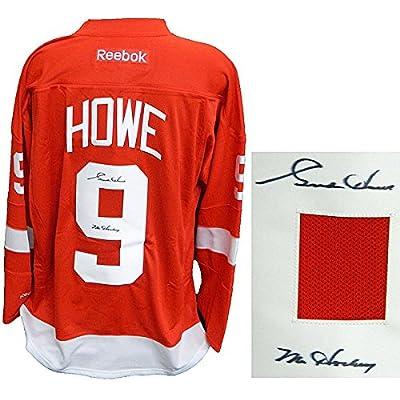info for 37c69 fb7d7 Gordie Howe Signed Detroit Red Wings Red Reebok Premier ...