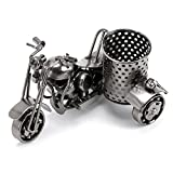 BTSKY Handmade Creative Metal Crafts Office Desktop Storage Accessories Harley The Motorcycle Loves Metal Pencil Pen Holder Perfect Gift for Fathers' Day Christmas…