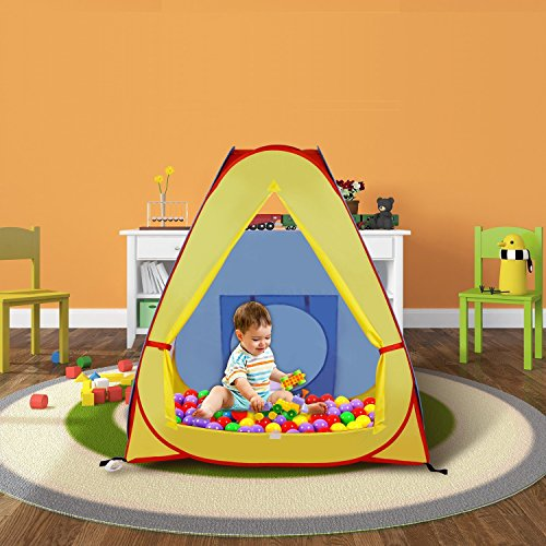 WolfWise Play Tent for Kids Hut Indoor Outdoor Playhouse with Storage - Bag Hut The