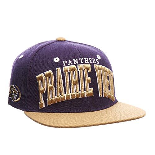 Prairie View Panthers Super Star Adjustable Snapback Cap - NCAA Flat Bill 2-Tone Zephyr Baseball -