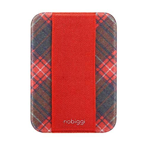 (2-Pack nobiggi OG Art Series (Tartan Pixel (Red)) Phone Grip Smartphone)