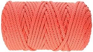 Pepperell BB6100145 Bonnie Macrame Craft Cord, 6mm x 100 yd, Coral
