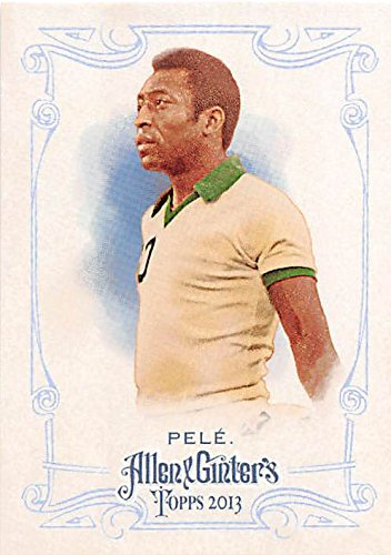 Pele trading card (Brazil World Cup Soccer Cosmos) 2013 Topps Allen Ginters #130 by Autograph Warehouse