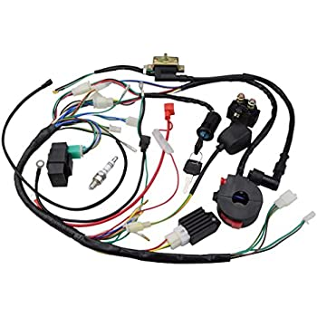 goofit ignition rebuild kit wiring harness for 50cc 90cc 110cc 125cc chinese  atv quad bike go kart buggy