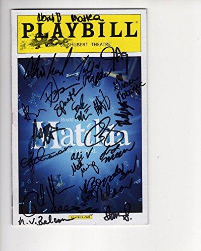 (Matilda Hand Signed Ny City Playbill+coa Rare Signed By Whole)