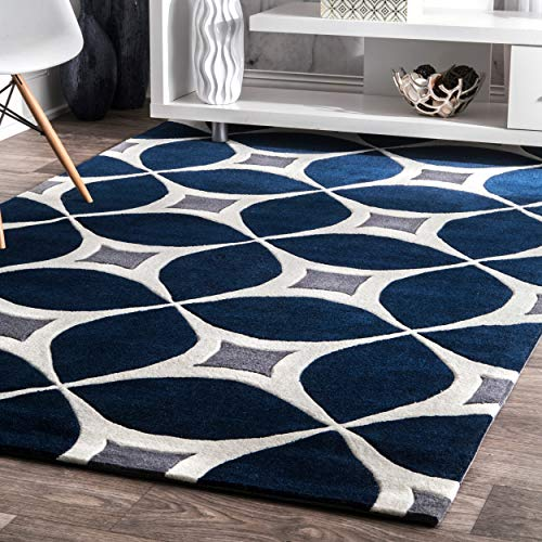 nuLOOM Gabriela Contemporary Area Rug, 6 x 9 , Navy