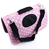 OpetHome Dog Paws Pet Medium Carrier Breathable Bed for Dog & Cat Pink Box L