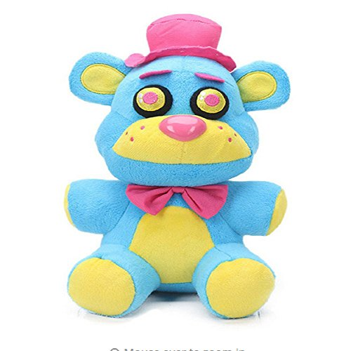 Stuffed Plush Five Nights at Freddy's Toy - 10 Inch FNAF Five Nights at Freddy's Nightmare Brown Pink Yellow Bear Plush Soft Toy Suitable For Babies and Children (Blue Yellow (Yellow Soft Bear)
