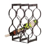 Wilco Imports 13.25-Inch by 6.75-Inch by 16.5-Inch 8-Bottle Metal Wine Rack Review