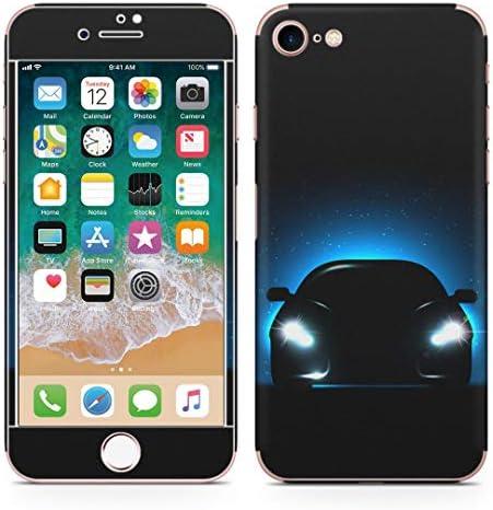 igsticker iPhone SE 2020 iPhone8 iPhone7 専用 スキンシール 全面スキンシール フル 背面 側面 正面 液晶 ステッカー 保護シール 000088 クール 夜空 車 星