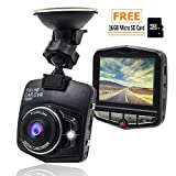 Loremante Dash Cam with 16gb Micro SD Card | Dashboard Camera for Cars, Front Mirror Mount | Hardwire Kit GPS Recorder 360 Econoled Loop Recording, Parking Mode | G-Sensor: Win Your car disputes For Sale