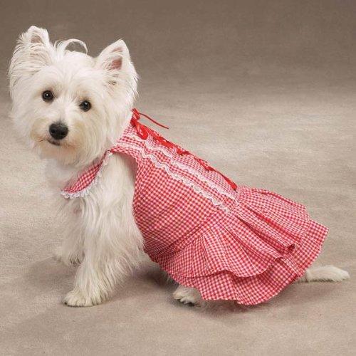 Southern Belle Dog Dress - Zack & Zoey Red Southern Belle Dress - Size Large