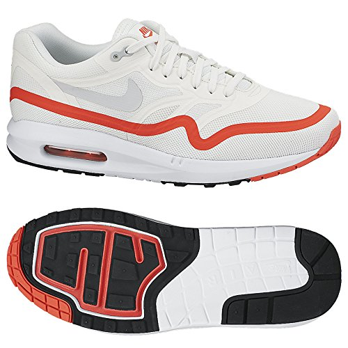 Nike Air Max Lunar1 654469-102 White/Wolf Grey/Crimson Men's Running Shoes (size 7.5)