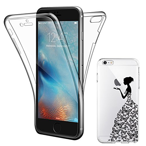 Coque Etui iPhone 7 , ivencase iPhone 7 Silicone Gel Case Avant et Arrière Intégral , Full Protection Cover , Ultra Mince Souple TPU Housse Anti-rayures pour Apple iPhone 7 4.7""