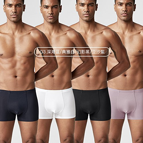 LLZNSNK Herren Slip/Unterhosen/UnterhoseMänner Unterwäsche Männer Boxer Leggings Ice Silk Breathable Hosen Junge Männer Unterwäsche Kopf Männer