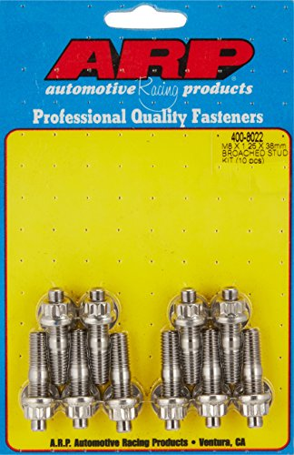 - ARP 400-8022 M8 x 1.25 x 38mm Stainless Steel Stud Kit - 10 Piece