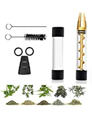 Glass Tube Kit for Herbs and Spices with 2 x Glass bottle 4 x O-Rings 2 x Rubber Caps 2 x Cleaning Brush 1 x Packing Box