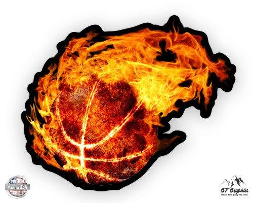 GT Graphics Blazing Basketball Vinyl Sticker Waterproof Decal