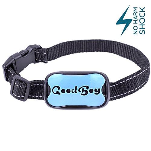 GoodBoy Dog Bark Collar Medium Large Dogs Pet Anti Bark Device 7 Level Sound Shock System to Control Stop Your Pups' Excessive Barking (12 + (Good Dog Nylon Collar)