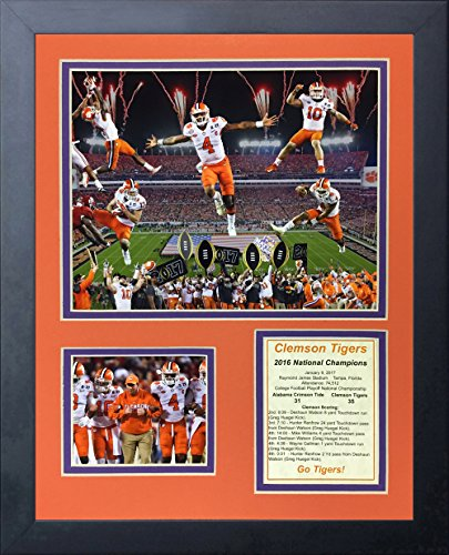 (Legends Never Die NCAA Clemson Tigers 2016 CFP National Champions Framed Photo Collage, 11