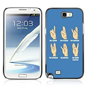 Hard Case or Cover for Samsung Galaxy Note 2 Funny Hand Signs iphone coveriphone case for girls