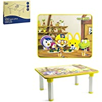 Pororo Kids Activity Table with Folding Legs (Yellow)