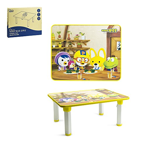 Pororo Kids Activity Table with Folding Legs (Yellow) by Pororo