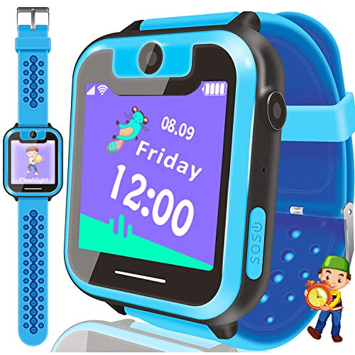 [FREE SIM CARD]Kids Smart Watch Phone for 3-14 Girls Boys, Game Watch with SIM Card Slot Anti-Lost 1.55'' HD Touch Screen 2 Way Call Camera SOS Clock Flashlight Wristband 2019 Valentine's Learning Toy