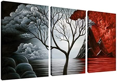 picture of Wieco Art The Cloud Tree Wall Art Oil PaintingS Giclee