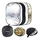 Andoer 5 in 1 Portable Photography Studio Multi Photo Collapsible Light Reflector 60 x 90cm (24 x 36 inch) with Carrying Bag
