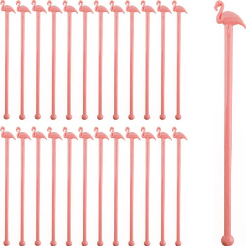 Pink Flamingo Cocktail Stirrers - Box of 1000 by KegWorks