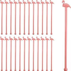 Pink Flamingo Cocktail Stirrers-Set of 24