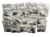 SUNKEE S9012 S9013 S9014 A1015 C1815 S8050 S8550 2N3904 2N3906 A42 A92 A733,17valuesX10pcs=170pcs,Transistor Assorted Kit