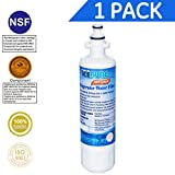Icepure RWF1200A 1PACK Refrigerator Water Filter Compatible with LG LT700P, ADQ36006101 ,KENMORE 469690