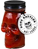 Thoughtfully Gifts, Deadly Skull Hot Sauce, Bone Rattler Edition, Skull Mason Jar Filled With Fiery Hot Sauce, 15.2…