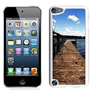 NEW Unique Custom Designed iPod Touch 5 Phone Case With Lake Wharf Dock_White Phone Case