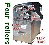 INTBUYING Four Rolls Electric Sugar Cane Ginger Press Juicer 110V