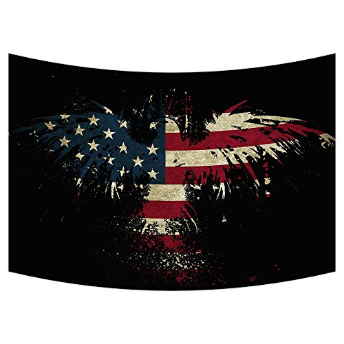 Custom Abstract Bald Eagle American Flag The U.S Flag Stars and Stripe Flag Tapestry Wall Hanging,Wall Art, Dorm Decor,Wall Tapestries Size 90x60 inches