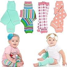 juDanzy girls 4 pack of organic baby & toddler leg warmers