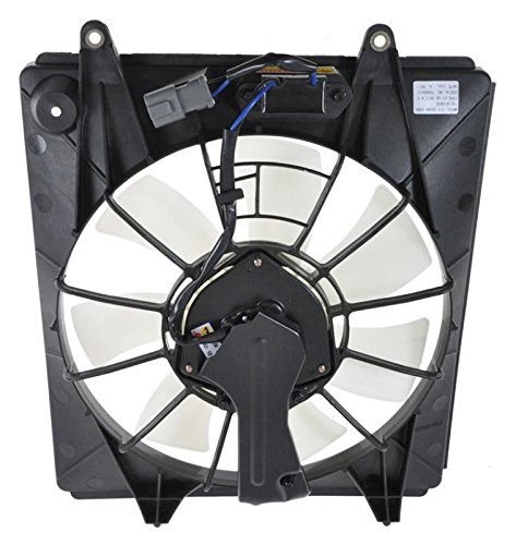 AC A/C Condenser Cooling Fan w/Motor Assembly 7 Blade for 07-09 Honda CRV CR-V AM Autoparts