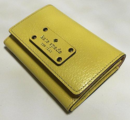 Kate Spade Wellesley Darla Leather Clutch Wallet WLRU1736 (Limoncello)