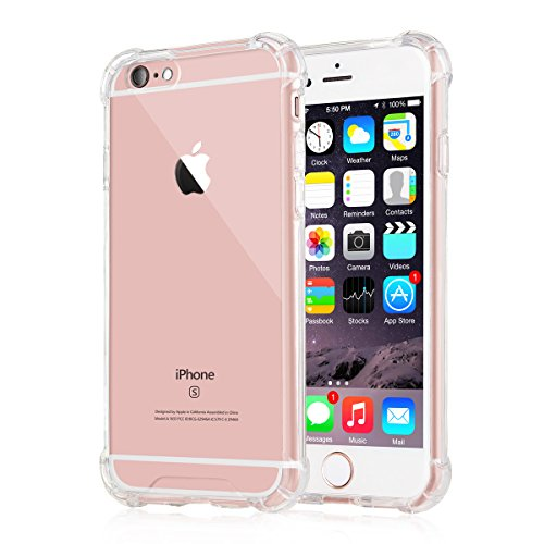 [Crystal Clear] iPhone 6 / 6s Case, iXCC New Cover Case [Shock Absorption] with Transparent Hard Plastic Back Plate and Soft TPU Gel Bumper - Clear (Phone Hard New)