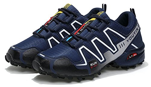 Men's JiYe Trail Trail Blue Outdoors Performance Shoes Runner Shoes Running Lace up HwRwdq