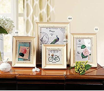 Amazon.com: Labu Store 1pcs Retro White Photo Frames 4\'\'/6\'\'/7\'\'/10 ...