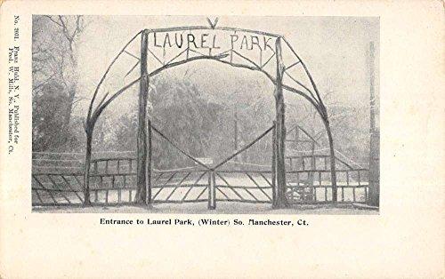 Manchester Connecticut Entrance To Laurel Park Antique Postcard K72240