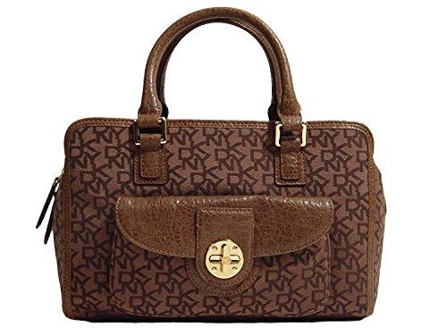 DKNY Logo Turn Lock Satchel Doctor Bag Handbag