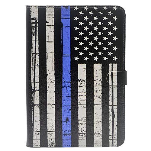 iPad Mini 1/2/3 Case - American Flag Retro Thin Blue Line US Vintage Pattern Leather Flip Case Stand Cover for Apple iPad Mini 1/iPad Mini 2/iPad Mini 3 (American Flag I Pad Mini Case)