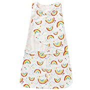 O.C.E Baby Newborn Sleepbag 100% Cotton Wearable Swaddle Blankets,Rainbow 0-3 Months